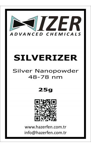 Silverizer - Gümüş Nanotoz 48-78nm 25g