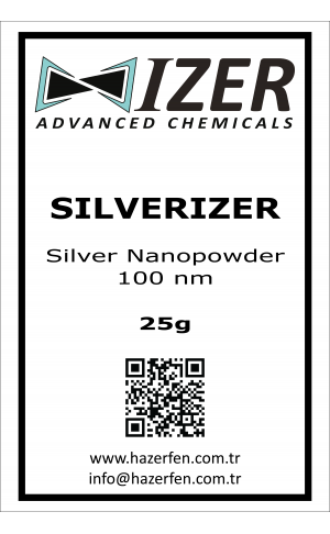 Silverizer - Gümüş Nanotoz 100nm 25g