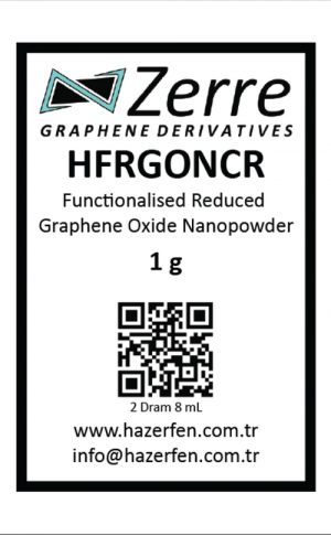 HFRGONCR - Fonksiyonel Kimyasal İndirgenmiş Grafen Oksit Nanotoz 1g