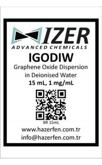 IGODIW - Deiyonize Su İçinde Grafen Oksit Dispersiyonu 15mL 1mg/mL