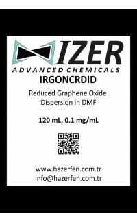 IRGONCRDID - DMF İçinde Kimyasal İndirgenmiş Grafen Oksit Dispersiyou 120mL 0.1mg/mL