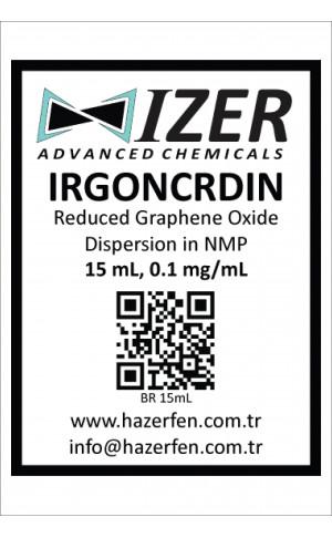 IRGONCRDIN - NMP İçinde Kimyasal İndirgenmiş Grafen Oksit Dispersiyou 15mL 0.1mg/mL